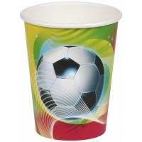 8 Becher 250ml Fussball