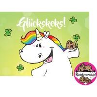 Pummel Einhorn Postkarte A6 mit Duft