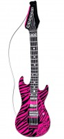 Aufblasbare Zebra-Gitarre