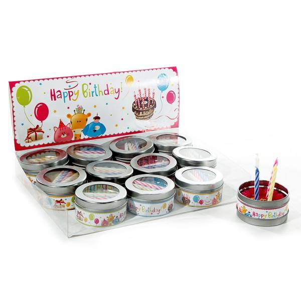 Kerze Happy Birthday 6cm