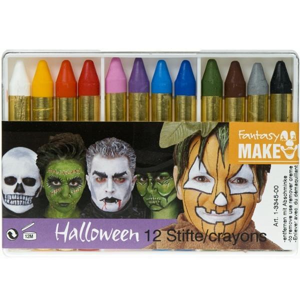 Halloween-Schminkstifte 12-Stück