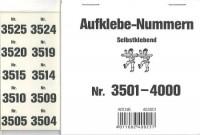 Aufklebenummern für Gabentisch 3501-4000