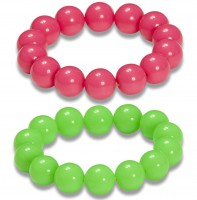 2er-Set Neon-Perlenarmband