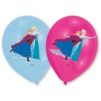 Frozen 6 Ballone Frozen farbig 28cm