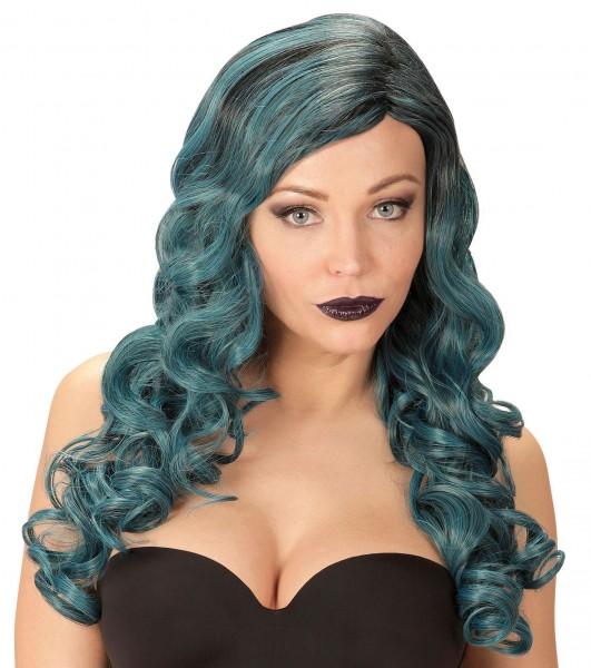 Perücke Rihanne blau-grün