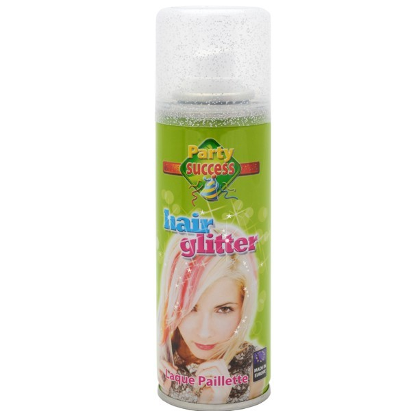 Hair Glitterspray silber