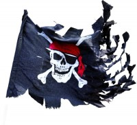 Piratenflagge 70x100cm zerrissen