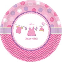 Amscan 8 Teller 26.6cm Baby Shower Girl