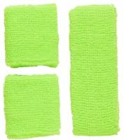 Stirnband- und Schweissbänder Set neongrün