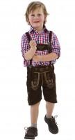 Set Kinder Lederhosen mit Trachtenhemd 104cm