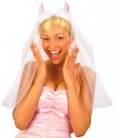Brautschleier mit Hörner