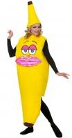 Kostüm Miss Banane gelb Overall mit Hut