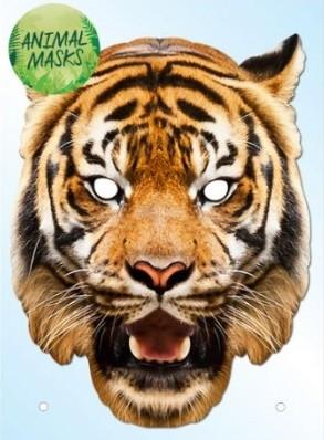 Fotomaske Karton Tiger