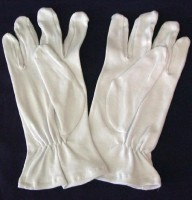 Weisse Handschuhe XL