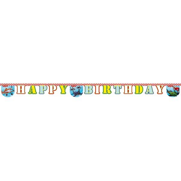 1 Banner Happy Birthday Planes