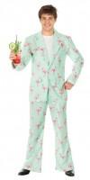 Kostüm Flamingo Disco Anzug Grösse XL Jacke und Hose