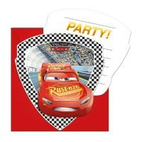 6 Einladungset Cars 3
