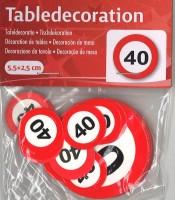 XL Tischkonfetti Verkehrschild 40
