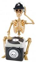 DJ Skellet mit Plattenspieler
