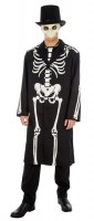 Kostüm Skelett James Bones Grösse L schwarz