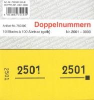 Doppelnummer gelb 120x60mm 2001-3000