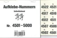 Aufklebenummern für Gabentisch 4501-5000