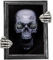 Gemälde 30x35cm Totenkopf sprechend und mit Licht inkl. Batterien