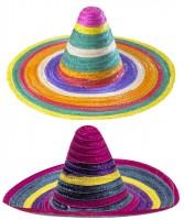 Sombrero Stroh farbig