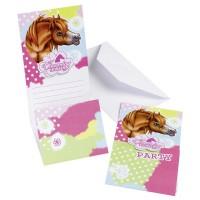 Charming Horses 6 Einladungs-Sets Pferde