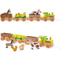 Janod Baby-Bauernhofeisenbahn