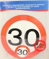 Verkehrsschild Untersetzer - Set 30 Jahre