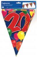 Wimpelkette Birthday Ballone 20 Jahre