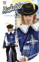 Oberteil Musketier blau 128cm