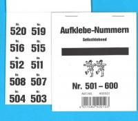 Aufklebenummern für Gabentisch 501-600