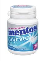 Mentos Gum White Sweet Mint 75g Bottle x 6