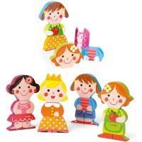 4 Magnete Puppen