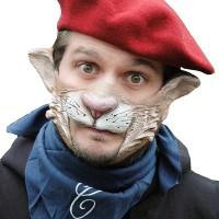 Fasnacht Partymaske Carlo da Vinci