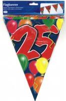 Wimpelkette Birthday Ballone 25 Jahre
