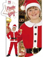 Kinderkostüm Santa Boy 140cm