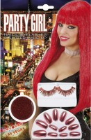 Party-Set Glittergirl rot