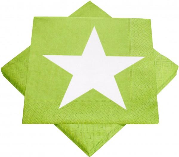 Servietten Maigrün mit Stern