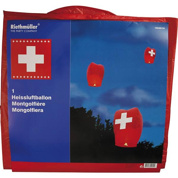 Himmelslaterne Schweiz Heissluftballon