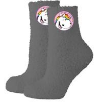 Pummel Einhorn Socken 39/42 anthrazit