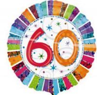 Silberfolienballon Happy Birthday 60 Jahre