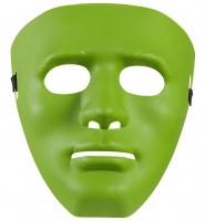 Grüne Anonymusmaske