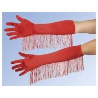 ANDREA MODEN Handschuhe Satin rot
