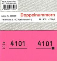 Doppelnummer eosin 120x60mm 4001-5000