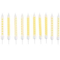 Amscan 10 Geburtstagskerzen gelb 6.3cm