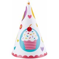 6 Partyhüte Cupcake