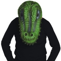 Fasnacht Maske Krokodil für Kinder
